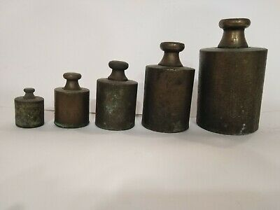 Brass Scale Balance Cast Weight Antique Weights Vintage Old Primitive Solid Rare