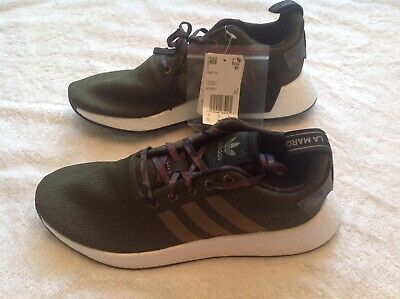 wholesale dealer 56858 5eb51 ADIDAS ORIGINAL NMD R2 Running Shoes Olive Green White ...