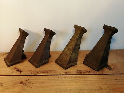 Antique/Vintage Set of 4 Cast Iron Art Deco Bath Legs/Feet, Circa 1930s, MAGNA