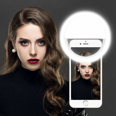 LED Ring Light 3 Levels Dimmable for Phone Tablets Shooting Camera Lightweight