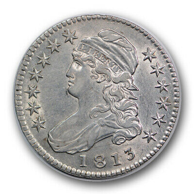 1813 50C Capped Bust Half Dollar About Uncirculated to Mint State R705