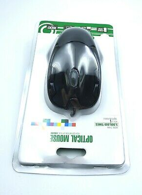 Wired Usb Optical Mouse For Pc Laptop Computer Scroll Wheel Black Uk