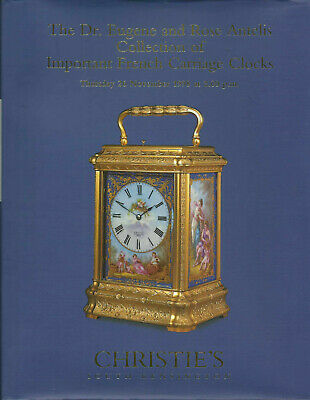 CHRISTIE'S Important French Carriage Clocks Antelis Collection HB Catalog 1998