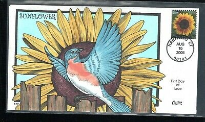 2008 #4347 42c Sunflowers Collins First Day Cancel