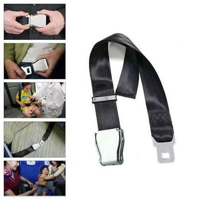 80cm Adjustable Airplane Aeroplane Airline Extension Extender Seat Belt Buc Z6J9