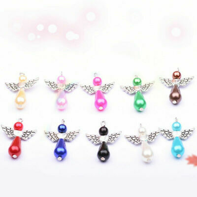 Teardrop Wings Dancing Jewellery Gift 5pcs DIYAngel Pendants Charms Mixed Craft