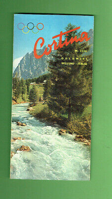 #RR.  1950s  TRAVEL GUIDE BROCHURE CORTINA, ITALY