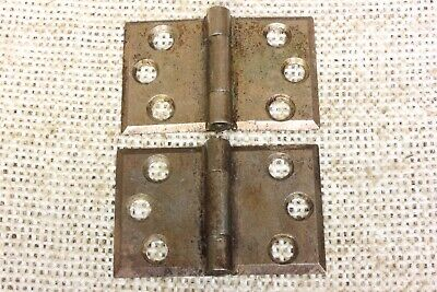 "2 door interior shutter Hinges old vintage steel 1 1/4 x 1 7/8"" bevel edge"