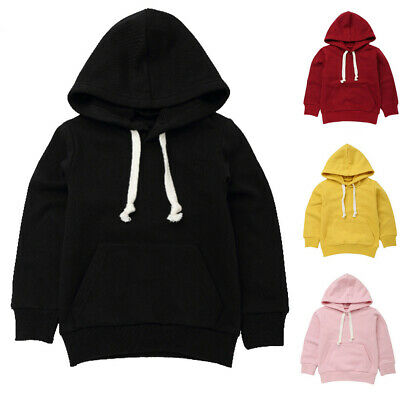 Toddler Child Kid Baby Boys Girls Hooded Sweatshirt Tops Pullover Blouse Outfits