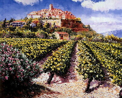 "Sunshine vineyard Landscapes Oil Painting Printed on Canvas 16""x20"" P1373"