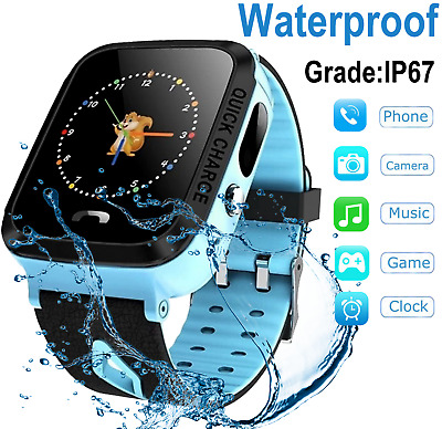Smartwatch Phone for KIDS with Sim Card slot Camera Games Text Call AntiLost GPS