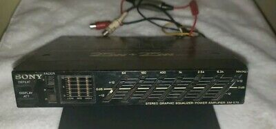 VINTAGE Sony XM-E70 Stereo Graphic Equalizer / Power Amplifier