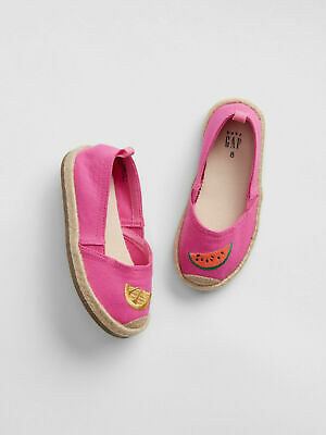 6 7 8 10 BABY GAP Kids Pink Fruit Watermelon Lemon Espadrilles Toddler Girl NWT