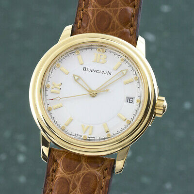Blancpain Leman 18K Gold Automatic Men's Watch Ref. 2100 Date VP