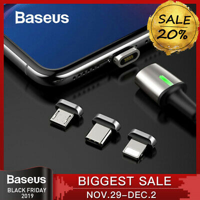 BASEUS Zinc Magnetic USB Type-C Micro USB Lightning Cable Charger Quick Charging