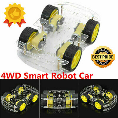 DC Smart Tracking 4WD Robot Car Chassis Kit Magneto Speed Encoder For Arduino