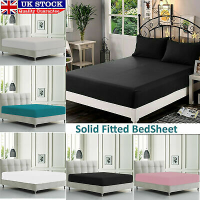 Extra Deep Fitted Sheets Bed Sheet Single Double King Super King with Pillowcase