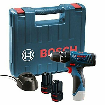 Bosch GSB 120 - LI Professional 12V with 2 x 1.5Ah Batteries Charger Carry Case