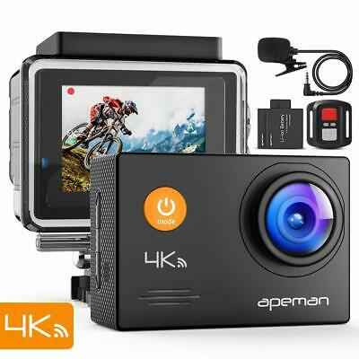 APEMAN Action Camera 4K WiFi 16MP Waterproof Sports Camera Underwater 40M
