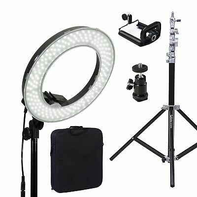 40W 5500K Adjustable LED Dimmable Ring Photographic Studio Light Diffuser Stand