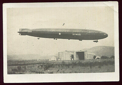 photo ancienne . le Dirigeable Zeppelin DIXMUDE