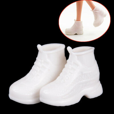 10 Pairs White   Doll Sneakers Shoes Dolls Accessories^c