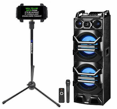 Technical Pro Bluetooth Karaoke Machine System+Wireless Microphone+Tablet Stand