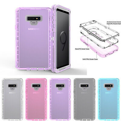 Case Poetic Guardian Clear Hybrid Bumper For Samsung Galaxy Note 9 8 S9 S8 S7