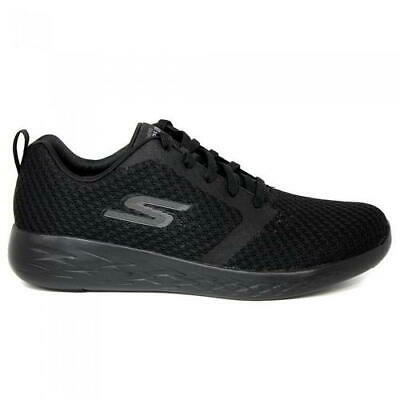 Skechers Go Run 600 Circulate Mens All Black Lace Up Trainers Shoes Size 7-13