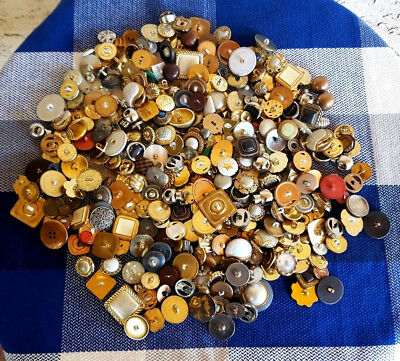 24oz Lot of Misc Crafting - Sewing - Project Buttons Assorted Styles & Shapes