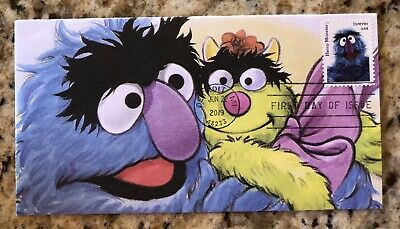 2019 Sesame Street FDC Herry Monster Handcrafted Storybook Cachet