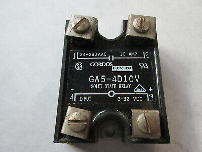 Crouzet Gordos GT60D10 10 Amp 4-Pole Solid State Relays 3-32VDC Input Lot of 5
