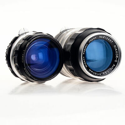 Two Nikon NIKKOR Lenses 28mm F3.5 And 135mm F3.5 Manual Focus F Mount