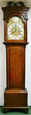Top Quality Antique 18thc Scottish 8 Day Mahogany Grandfather Longcase Clock