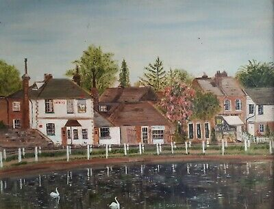 Original Oil Painting on Board, Framed. LINDFIELD, West Sussex. Daisy Morris