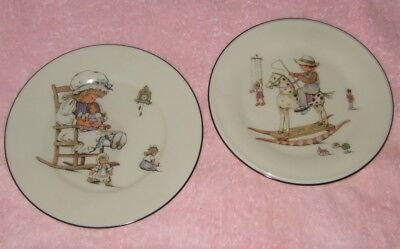 Lenox Baby Plate Vintage Baby Plates Girl Dolls Boy Horse Toys (2) Great Gift