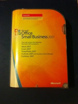 MICROSOFT Office Small Business 2007 UPGRADE * VG CONDITION Word Excel outlook