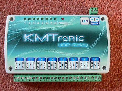 KMTronic LAN Ethernet IP 8 channels UDP Relay board - enclosed in a case