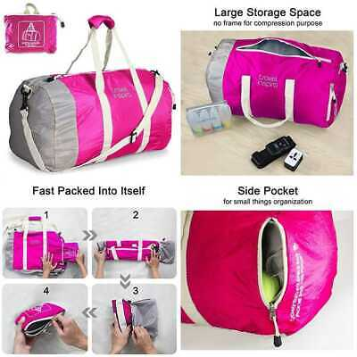 Foldable Duffel Travel Duffle Bag Collapsible Packable Lightweight Sport 60L