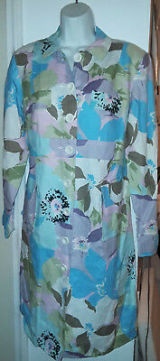 New A Pea In the Pod Floral Linen Maternity Jacket Coat M Med Medium NWT $295