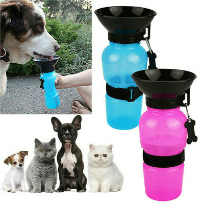 500ML Portable Pet Water Bottle Drinking Mug Cup Puppy Dog Cat Travel Outdoor CA