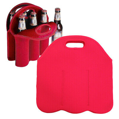 Insulated Neoprene Drink/Wine/Champagne/Beer 1/2/3 Bottle Cooler Tote Bag Carrie