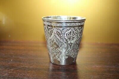 Handmade Hand Crafted Persian Silver Cup Isfahan 84 87.5% fine