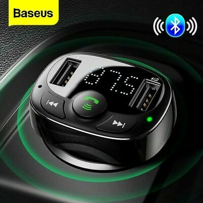 Baseus Bluetooth Car Kit FM Transmitter Radio MP3 Player USB Charger Wireless