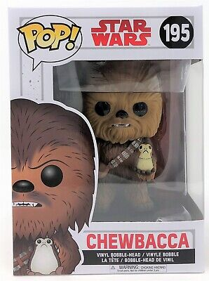 Funko Pop! Star Wars The Last Jedi Chewbacca with Porg Vinyl Figure Toy