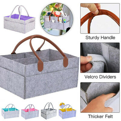 Baby Diaper Wipes Bag Caddy Nursery Storage Bin Infant Nappy Basket Organizer