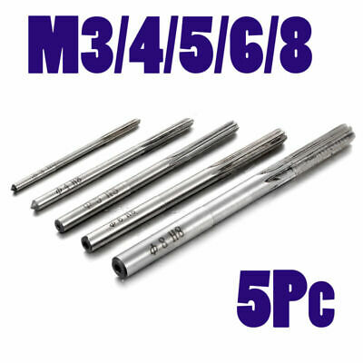 5* M3-M8 Hand Reamer Metric H8 6 Flutes CNC Milling Cutter Tool Parts Set Kit