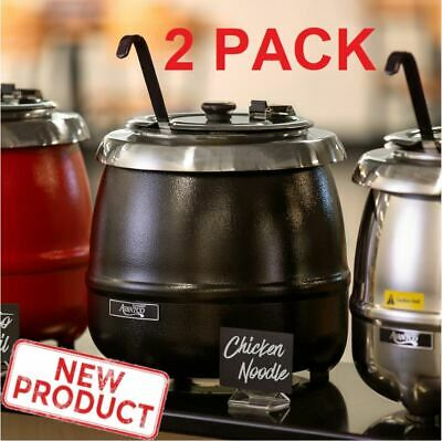 2 PACK Soup Kettle Pot Warmer 11 Qt Commercial Restaurant Food Kitchen Warm Stew