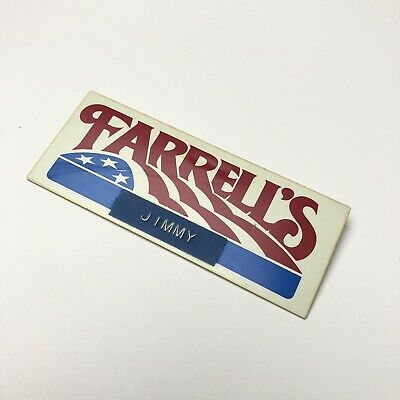 Farrell's Ice Cream Parlor Employee Badge / Name Tag