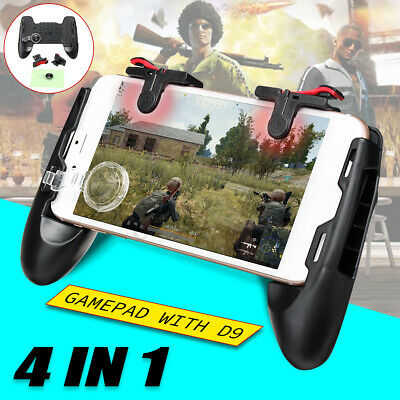 AU For PUBG Controller Mobile Game Shooter Trigger Fire L1R1 Game Pad+D9 Button